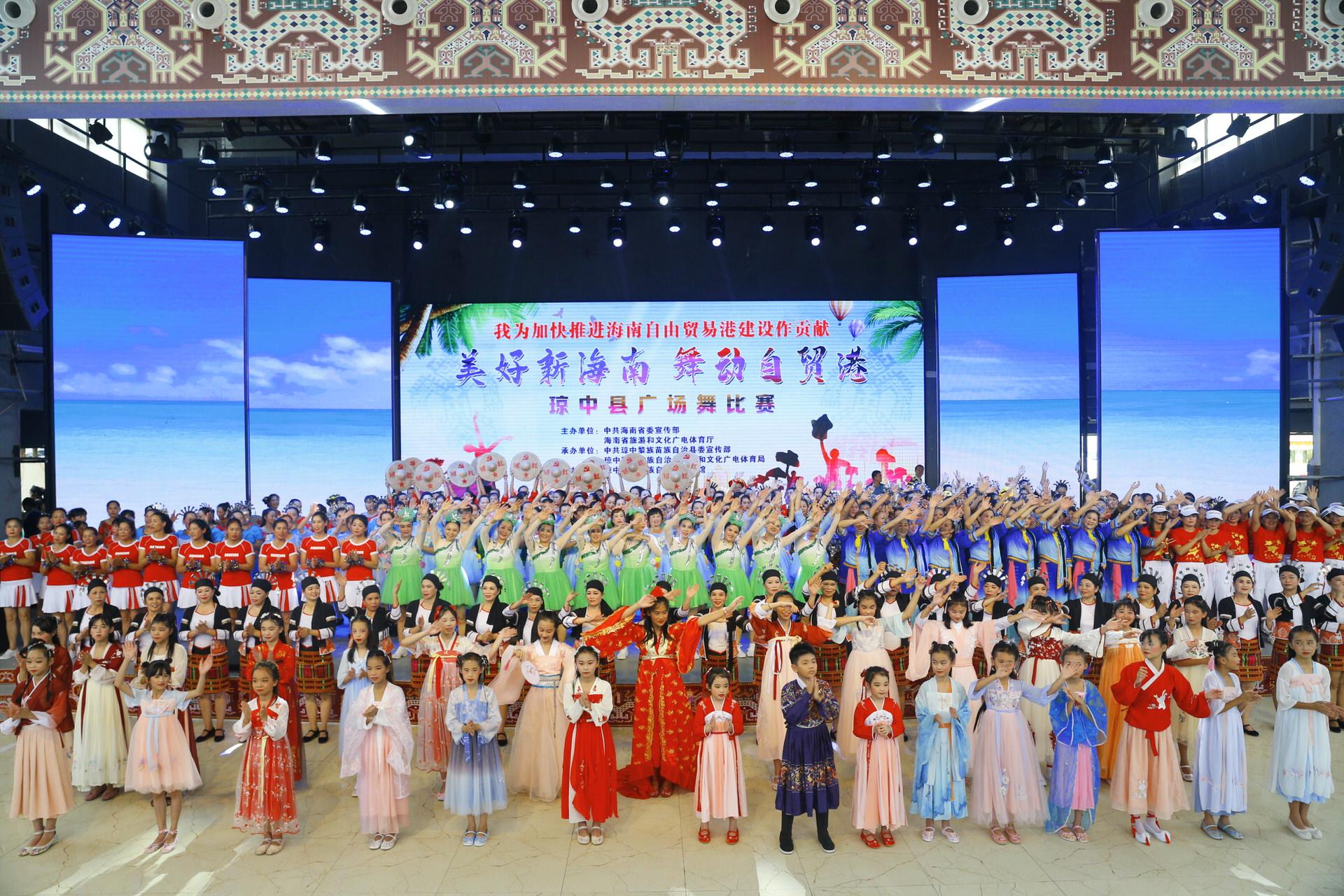 海南:多市县64支队伍舞动自贸港 提升群众公共文化活动